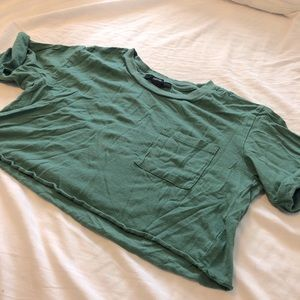 *FREE w Bundle* F21 Green Crop Top w Crop Sleeves